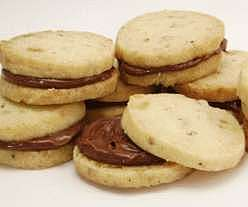 Candied Ginger Shortbread Sandwich Cookies